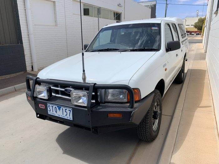 2002 Ford Courier GL PE 4X4 Dual Range White