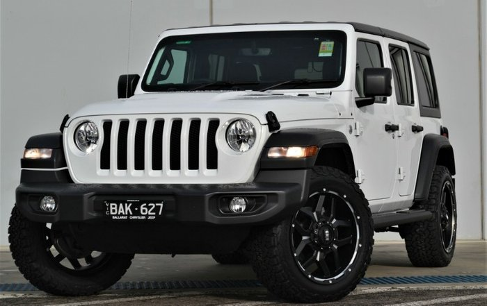 2019 Jeep Wrangler Unlimited Sport S JL MY19 4X4 Dual Range BRIGHT WHITE