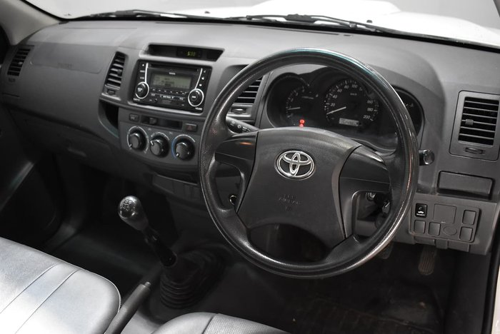 2013 Toyota Hilux Workmate KUN16R MY12 White