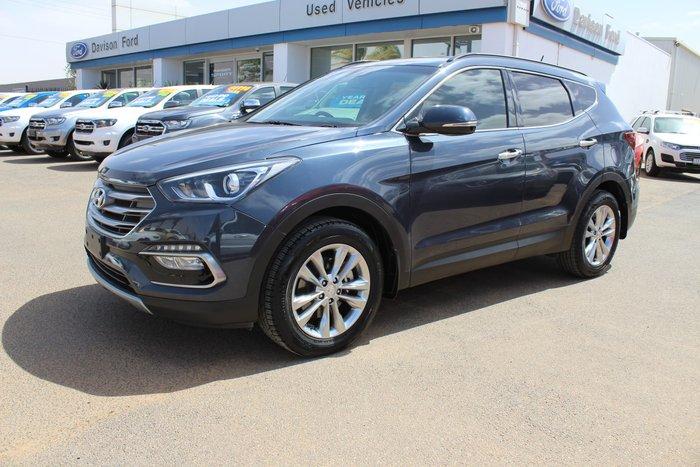2016 Hyundai Santa Fe Elite DM3 Series II MY17 4X4 On Demand Blue