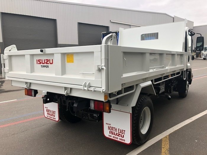 2019 Isuzu FRR 107-210 FACTORY TIPPER White