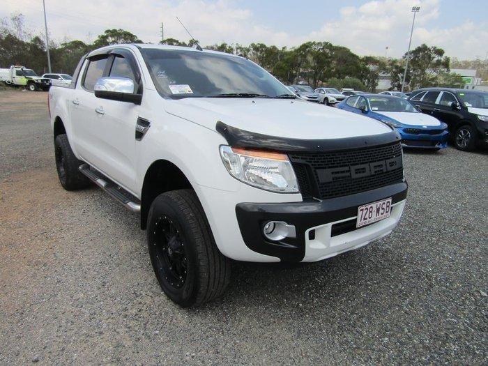 2013 Ford Ranger XLT PX 4X4 Dual Range White