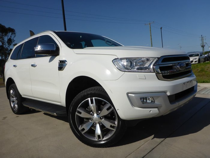 2016 Ford Everest Titanium UA 4X4 Dual Range White