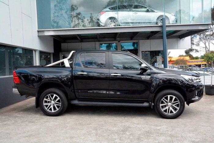 2017 Toyota Hilux SR5 GUN126R 4X4 Dual Range Black