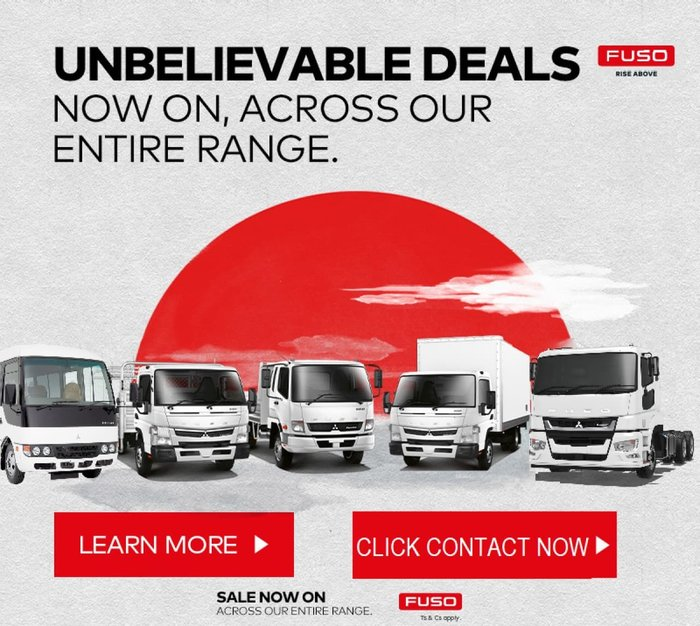 2019 FUSO FIGHTER 1427 MAN AIR UNBELIEVABLE DEALS NOW ON ACROSS RANGE! null null White
