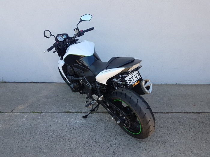 2010 Kawasaki Z750 White