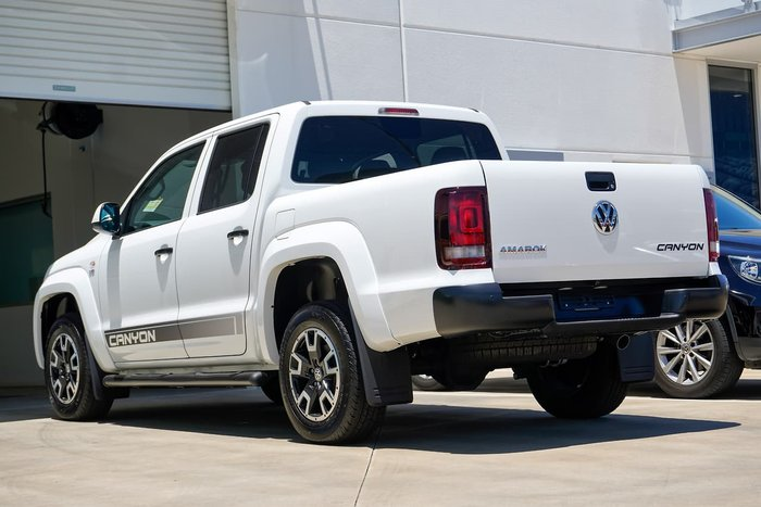 2019 Volkswagen Amarok TDI550 Canyon 4MOTION Dual Cab Ute 165kW 8A 4WD Candy White