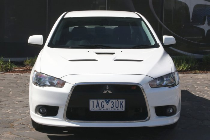 2013 Mitsubishi Lancer Ralliart CJ MY13 Four Wheel Drive White