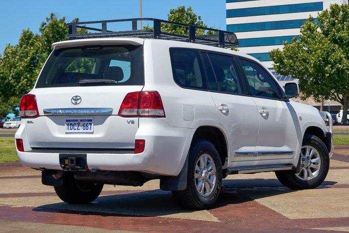 2009 Toyota Landcruiser GXL VDJ200R 4X4 Constant White
