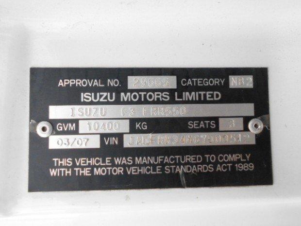 2007 Isuzu FRR550 ISUZU FRR525 CURTAINSIDER