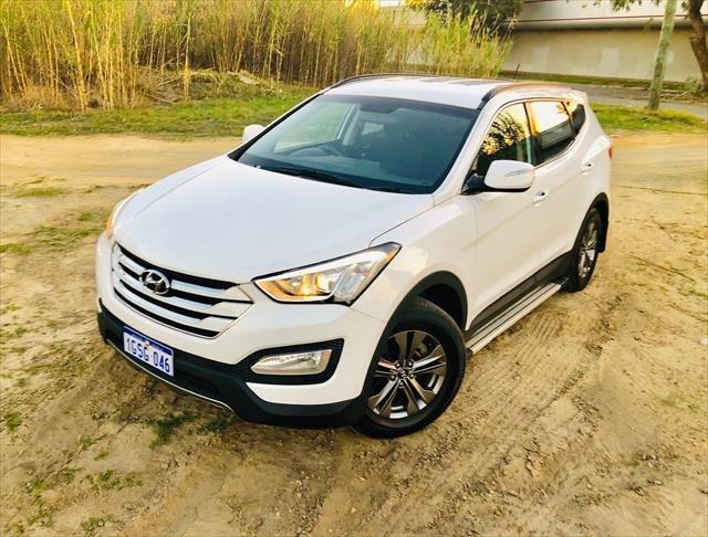 2012 Hyundai Santa Fe Active DM MY13 4X4 On Demand White