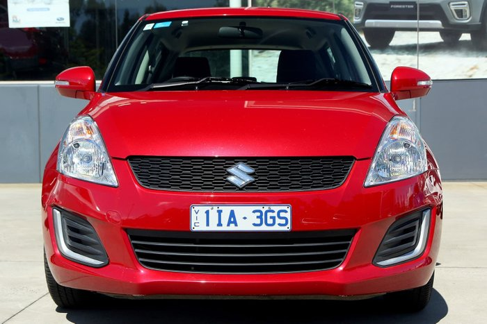 2016 Suzuki Swift GL FZ MY15 Red