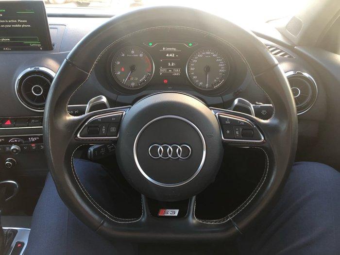 2015 Audi S3 8V MY15 Four Wheel Drive White