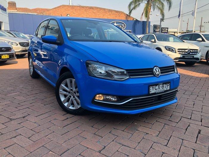 2016 Volkswagen Polo 81TSI Comfortline 6R MY16 Blue
