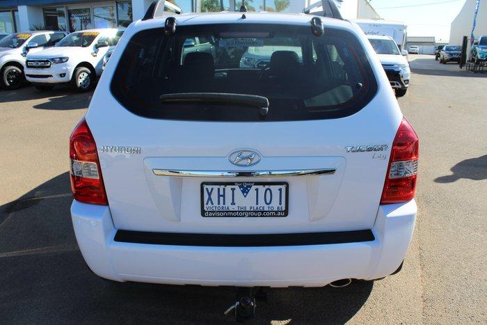 2009 Hyundai Tucson SX JM MY09 4X4 On Demand White