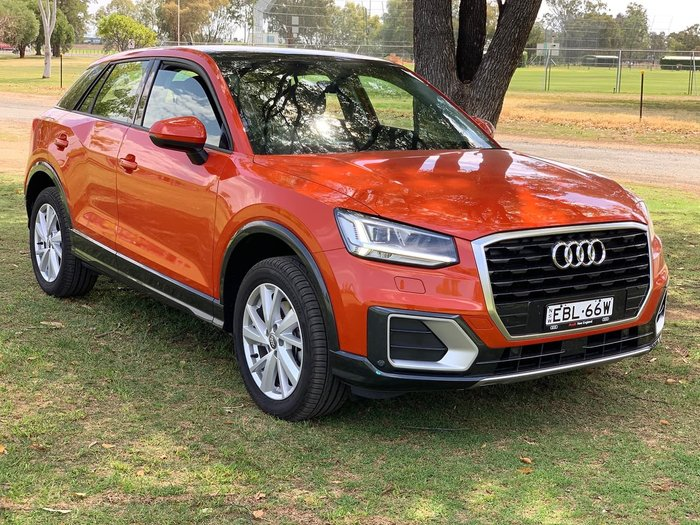 2018 Audi Q2 35 TFSI design GA MY19 Orange