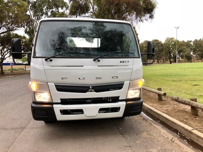 2018 FUSO CANTER 515 WIDE AMT ALLOY DROP SIDE TRAY null null White