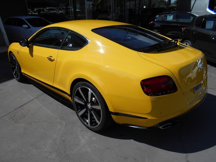 2014 Bentley Continental GT V8 S 3W MY15 4X4 Constant Yellow