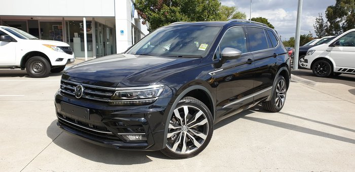 2019 Volkswagen Tiguan 162TSI Highline Allspace 5N MY20 Four Wheel Drive Black