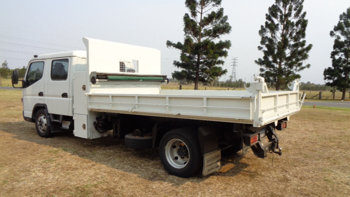 2012 Fuso Canter 815 Wide Dual Cab Tipper White