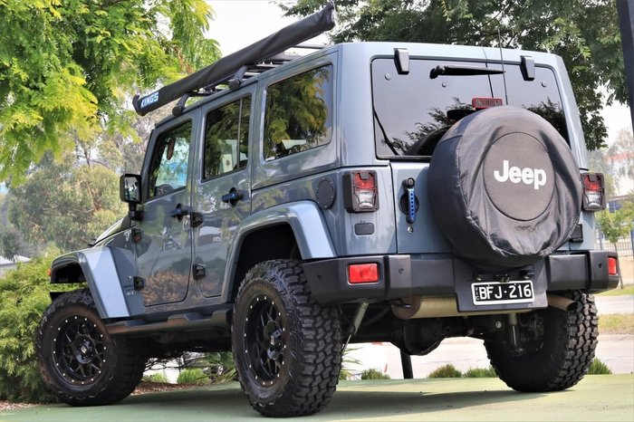 2015 Jeep Wrangler Unlimited Overland JK MY16 4X4 Dual Range Grey