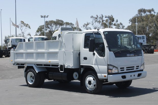2012 Isuzu NPR200 Short Tipper White