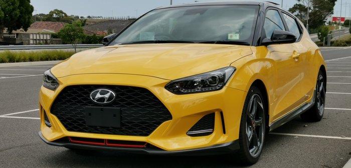 2019 Hyundai Veloster Turbo Premium JS MY20 Yellow