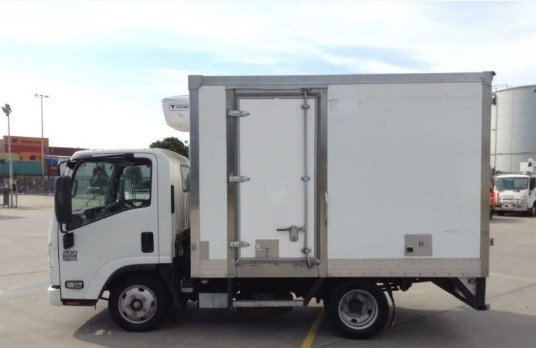 2014 Isuzu NLR200 Refrigerated Pantech White
