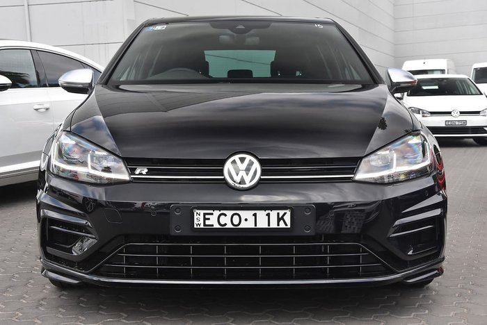 2018 Volkswagen Golf R 7.5 MY19 Four Wheel Drive Black