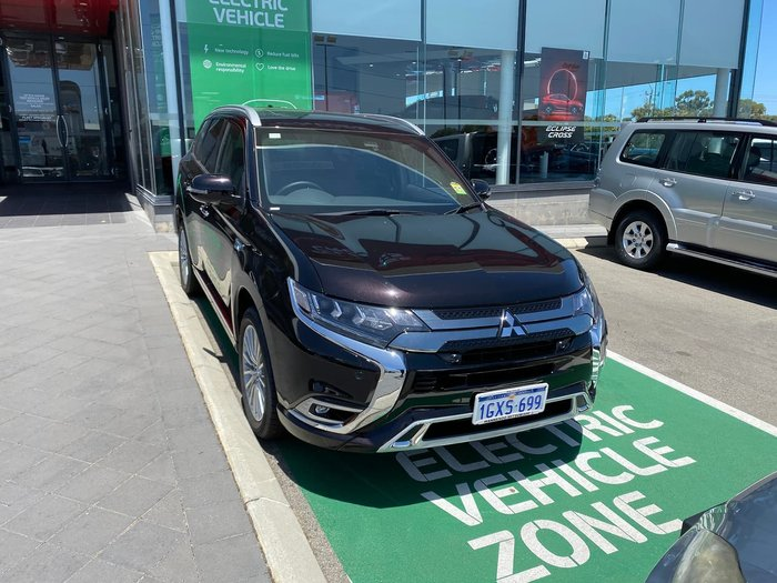 2019 Mitsubishi Outlander PHEV Exceed ZL MY19 Four Wheel Drive Black