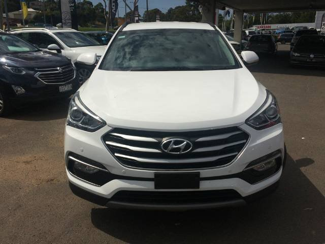 2017 Hyundai Santa Fe Active DM3 Series II MY17 4X4 On Demand WHITE