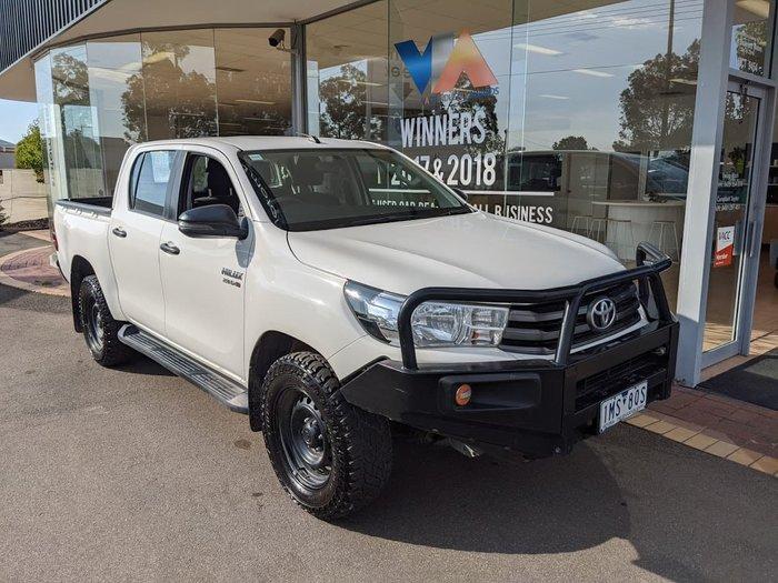 2018 Toyota Hilux Workmate GUN125R 4X4 Dual Range White