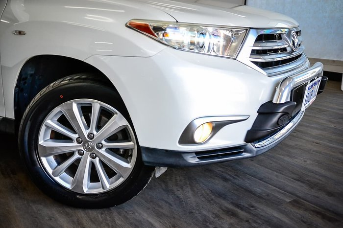 2012 Toyota Kluger Grande GSU45R MY12 Four Wheel Drive White