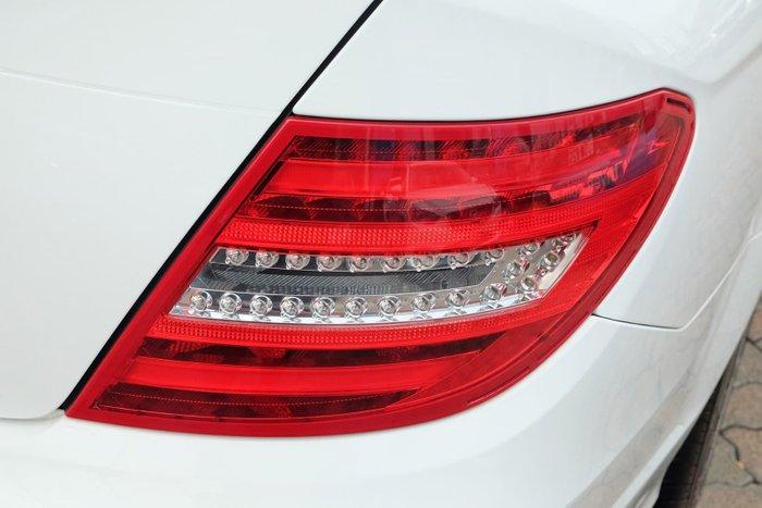 2012 Mercedes-Benz C-Class C200 BlueEFFICIENCY W204 MY12 White