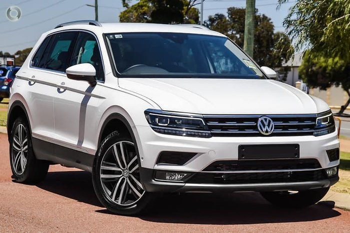 2019 Volkswagen Tiguan 162TSI Highline 5N MY20 Four Wheel Drive White