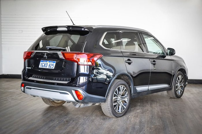 2016 Mitsubishi Outlander XLS ZK MY16 4X4 On Demand Black