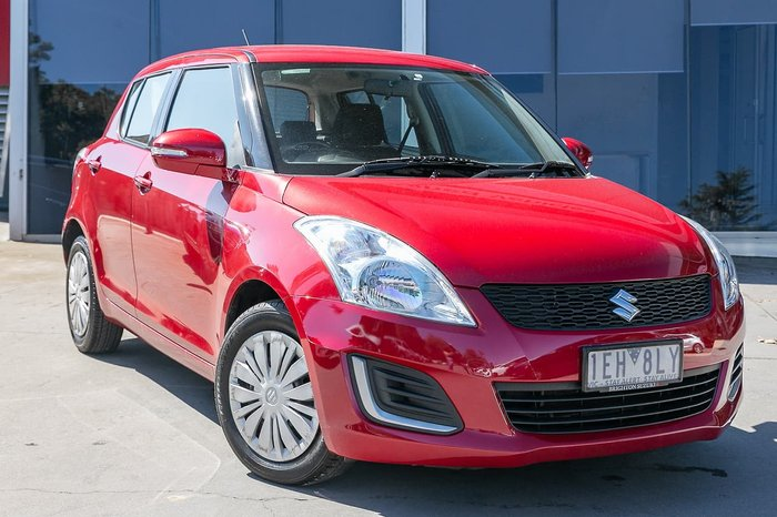 2015 Suzuki Swift GL FZ MY15 Red