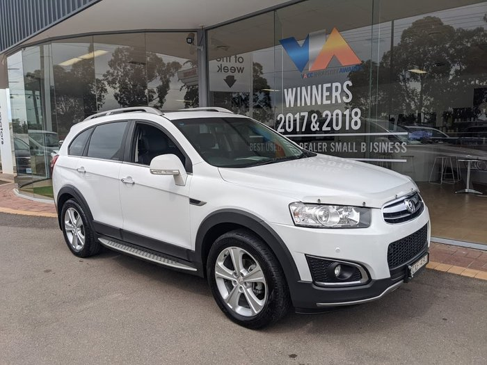2013 Holden Captiva 7 LTZ CG MY14 4X4 On Demand White