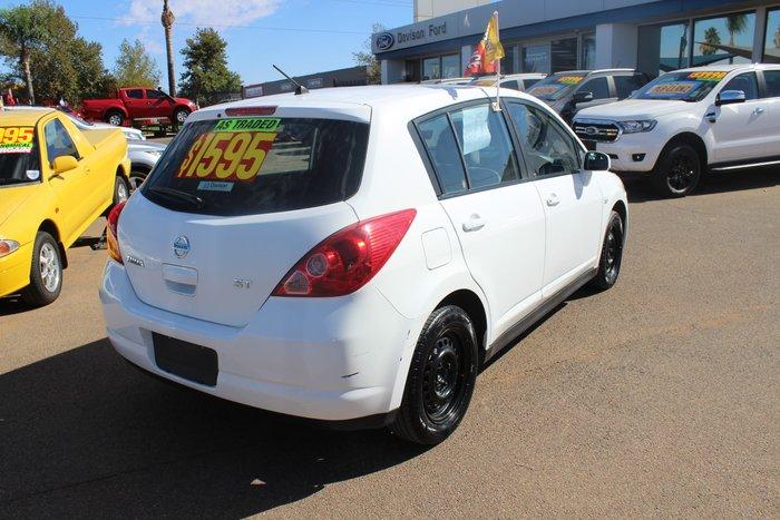 2010 Nissan Tiida ST C11 MY07 White
