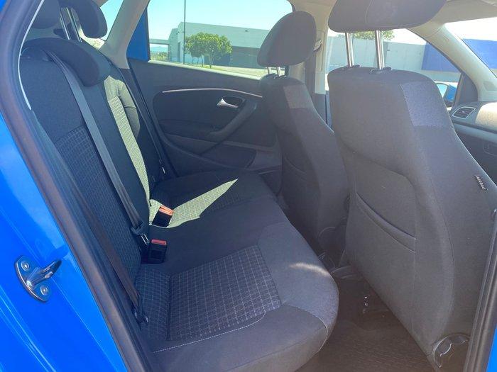 2014 Volkswagen Polo 81TSI Comfortline 6R MY15 Blue