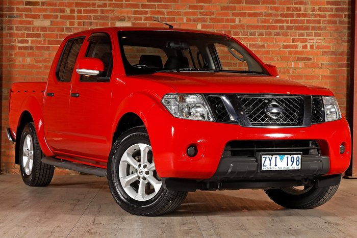 2013 Nissan Navara ST D40 Series 6 Red