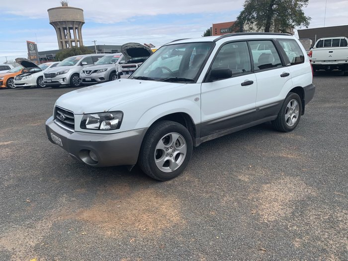 2003 Subaru Forester XS 79V MY03 Four Wheel Drive White