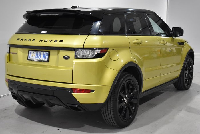 2013 Land Rover Range Rover Evoque Si4 Dynamic L538 MY13.5 4X4 Constant Yellow