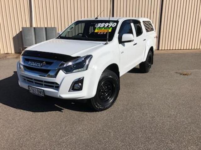 2018 ISUZU D-MAX 2018 ISUZU D-MAX LS-M (4x4) AUTO CREW CAB UTILITY DT4 DIESEL White