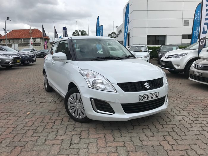 2016 Suzuki Swift GL FZ MY15 White