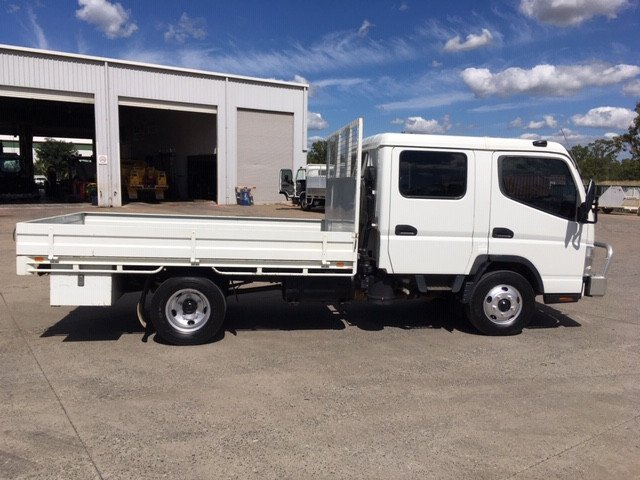 2007 Fuso FE85P Crew Cab with Hitch amp Tray White