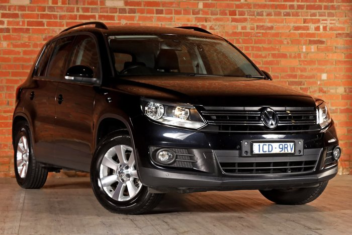 2014 Volkswagen Tiguan 132TSI Pacific 5N MY14 Four Wheel Drive Black