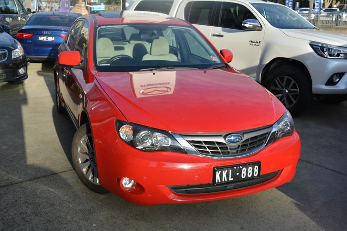 2009 Subaru Impreza RX G3 MY09 Four Wheel Drive Red