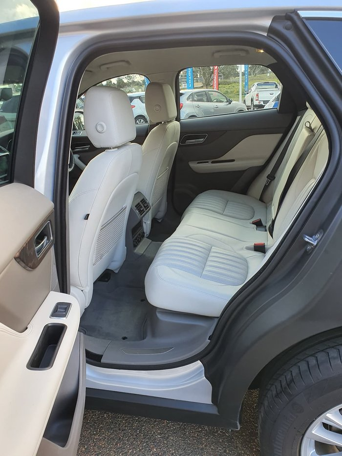 2018 Jaguar F-PACE 25d Portfolio X761 MY18 Four Wheel Drive Silver