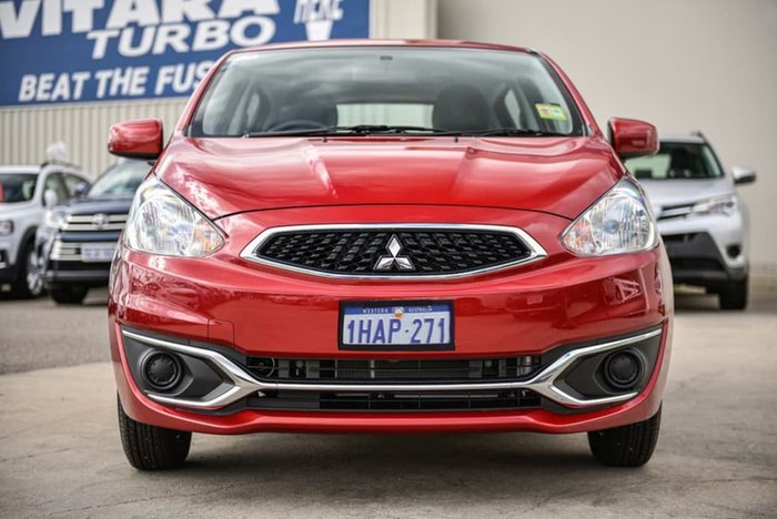2013 Mitsubishi Mirage ES LA MY14 Red